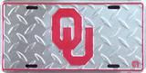 Oklamhoma University Diamond License Plate