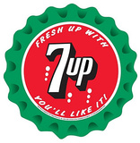 7Up Seven Up Soda Fresh Up You'll Like It Round