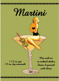Martini Drink Recipe Sexy Girl Tin Sign
