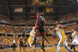 Indianapolis, IN - May 24: Miami Heat and Indiana Pacers - LeBron James and Roy Hibbert