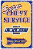 Super Chevy Chevrolet Service Car Distressed,