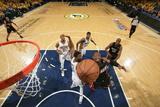 Indianapolis, IN - May 24: Miami Heat and Indiana Pacers - Dwyane Wade and Roy Hibbert
