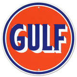 Gulf Oil Gasoline Logo Round