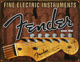 Fender - Fine Electric Instruments Tin Sign