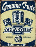Chevrolet - Chevy Genuine Parts Pistons Tin Sign