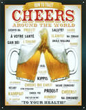 Cheers Around The World Beer Tin Sign
