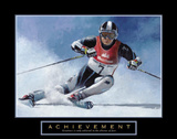 Acheivement Ski Race Skiing Motivational