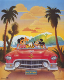 Mickey and Minnie Mouse Beach Car