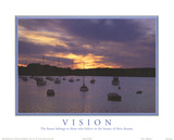 Vision The Future Belongs to Those Who Believe Boats Sunset Motivational