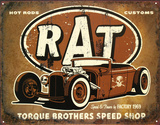 Rat Hot Rods Torque Brothers Speed Shop Tin Sign
