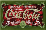 Coca Cola Coke Delicious Green Magnet
