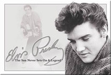 Elvis Presley Sun Never Sets on a Legend Magnet