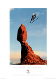 Ski Jumping Balanced Rock 2002 Salt Lake City Olympics Poster