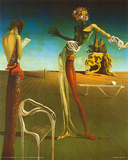 Salvador Dali (Woman With Head of Roses) Art Poster Print