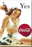 Coca Cola Coke Yes Girl Magnet Magnet