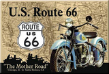 Route 66 The Mother Road Motorcycle Magnet