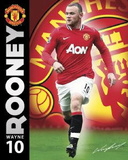 Manchester United FC Wayne Rooney Sports Poster Print