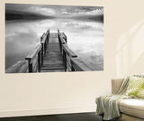 Gary Faye Infinity Dock on Water Photo Mini Mural Huge Poster Art Print,