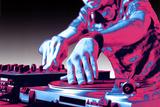 DJ Turntable Pop Art Print Poster Poster