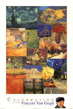 Vincent Van Gogh 150 Years Collage Art Print Poster
