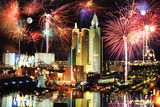 Las Vegas Fireworks Photo Art Print Poster