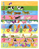 1 to 10 Counting with Animals Educational Poster
