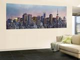 Hank Gans Manhattan Skyline New York City Huge Wall Mural Panoramic Door Poster Art Print