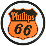 Phillips 66 Shield Logo Gasoline Round