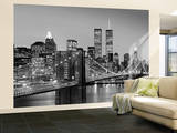 New York City Brooklyn Bridge by Henri Silberman Huge Wall Mural Art Print Poster