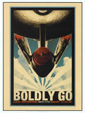 Star Trek Movie Boldly Go Poster Print
