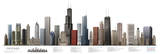 Chicago Illustrated Panorama Skyscraper Poster Print