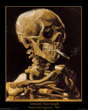 Vincent Van Gogh (Skull with Cigarette, 1885) Art Print Poster