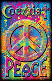 Coexist Peace Sign Blacklight Poster Print