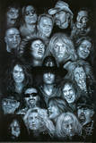 Metal Heroes (Ozzy Scott Ian Metallica Lemmy David Lee Roth Van Halen Led Zeppelin ) Poster