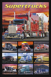Supertrucks (Semi Trucks) Art Poster Print