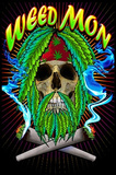 Weed Mon Pot Marijuana Blacklight Poster Print