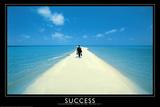 Success Walking on Beach Art Print Poster