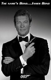 James Bond Roger Moore Movie Poster Print