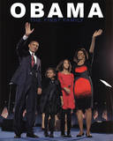 Barack Obama and First Family Art Print Poster Mini Poster