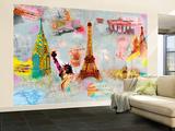 Around the World Huge Wall Mural Art Print Poster