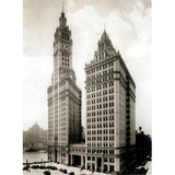 Chicago Wrigley Building 1930 Art Print Poster