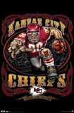 Kansas City Chiefs (Mascot, Grinding It Out Since 1960) Sports Poster Print