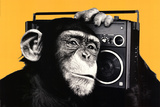The Chimp Boombox Art Print Poster