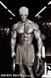 Jason Ellis Dan with Weights Art Print Poster