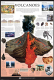 Volcanoes Dorling Kindersley Educational Poster Print