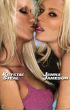 Lesbian Kiss Jenna Jameson and Krystal Steal Sexy Photo Poster Print