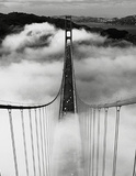 Misty Morning (Golden Gate Bridge) Art Poster Print Mini Poster