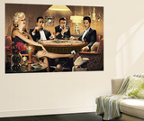 Four of a Kind Marilyn Monroe James Dean Elvis Presley Humphrey Bogart Mini Mural Huge Poster