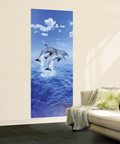 Steve Bloom Three Dolphins Giant Mural Poster Wall Mural