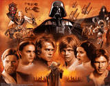 Star Wars Movie Saga 3-D Lenticular Poster Print